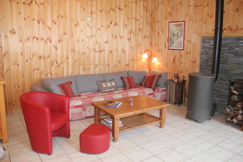 Apd05dra ma maison la montagne alpes provence destination - Salon avec poele a bois ...
