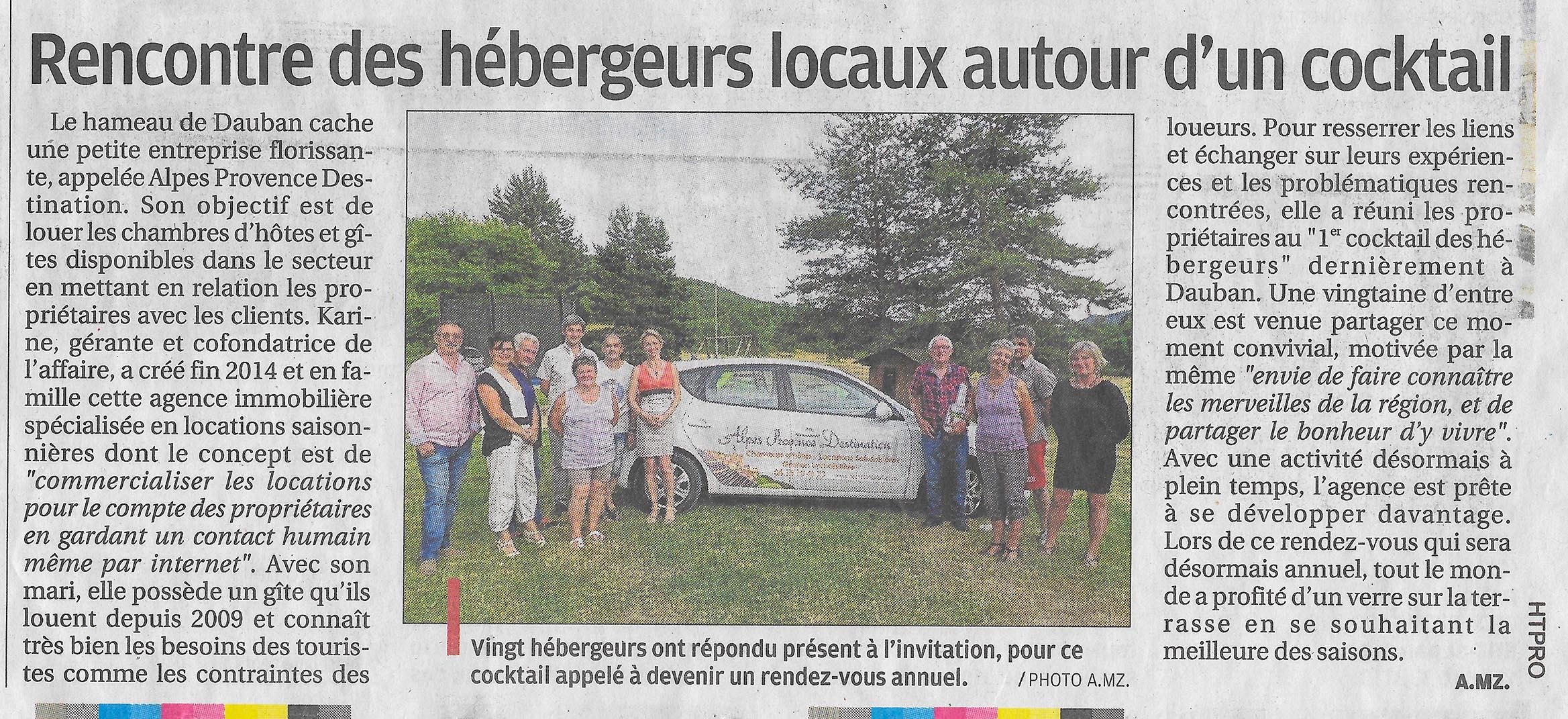 article La Provence 2016 06